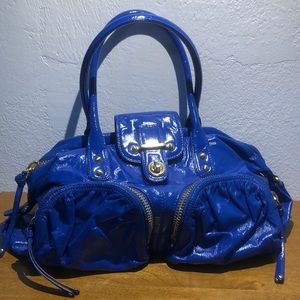 Botkier blue cobalt  pat leather